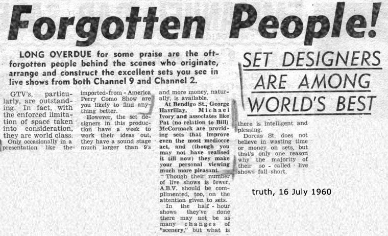 Truth, 16 July 1960 | Forgotten People behind the scenes in live TV