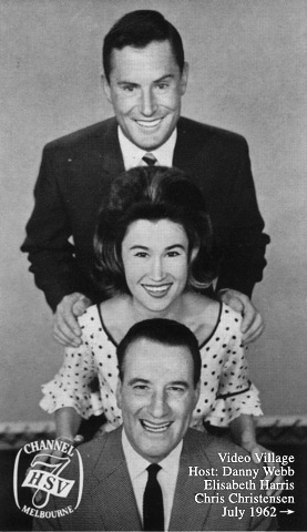 Video Village presenters 1962; Danny Webb, Elisabeth Harris & Chris Christensen