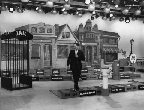 The studio set of 'Video Village' with host Danny Webb. Private Photo c.1963