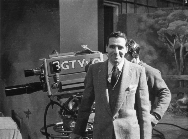 George Havrillay at GTV9, Richmond (Melbourne) c.1958