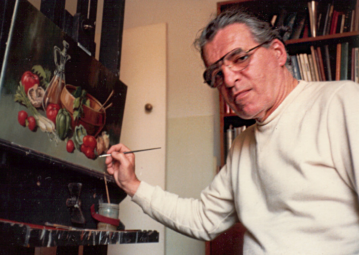 George Havrillay at his easel