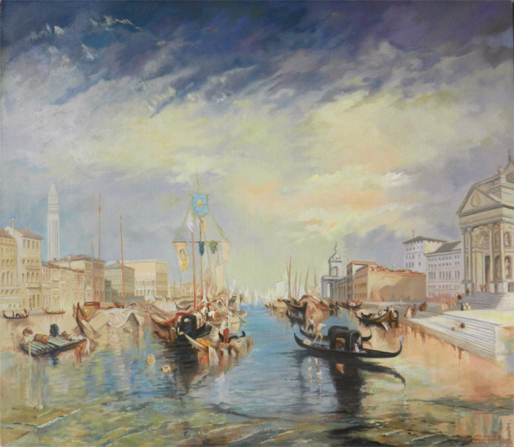 Turner: Canale Grande - Reproduction oil painting by George Havrillay