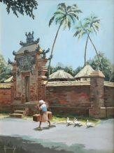 Bali Temple by George Havrillay