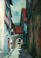 Riquewihr, France. Original painting by George Havrillay