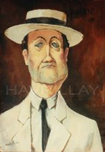 Original painting by George Havrillay in the style of Modigliani