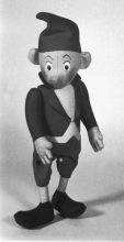 Mouse. Hand-sewn stuffed puppet by George Havrillay c.1960