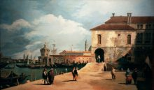 Canaletto: Molo - Reproduction oil painting by George Havrillay.