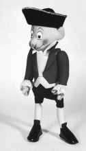 Sea Captain. Hand-sewn stuffed puppet by George Havrillay c.1960