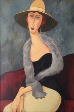 Original painting by George Havrillay in the style of Modigliani.