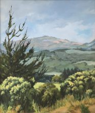 South Gippsland View. Original painting by George Havrilllay.
