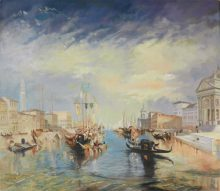 Turner: Canale Grande - Reproduction oil painting by George Havrillay.
