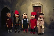 Village characters - Puppets and set created by George Havrillay