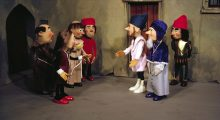 Village scene - Puppets by George Havrillay