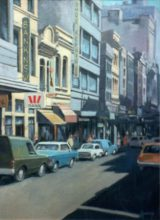 Little Collins Street. Original painting by George Havrillay.