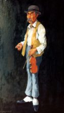 Gypsy Violinist. Original painting by George Havrillay.