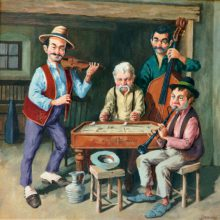 Hungarian Gypsy Band 2. Original painting by George Havrillay.