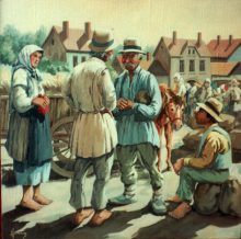 Market Day. Original painting by George Havrillay.
